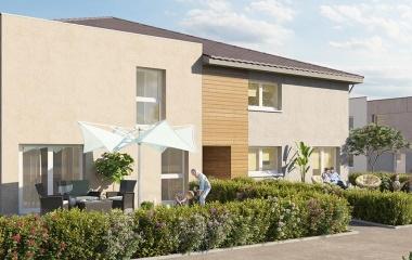 Mulhouse dans un quartier résidentiel