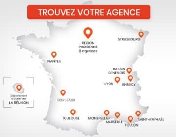 20 agences dans toute la France