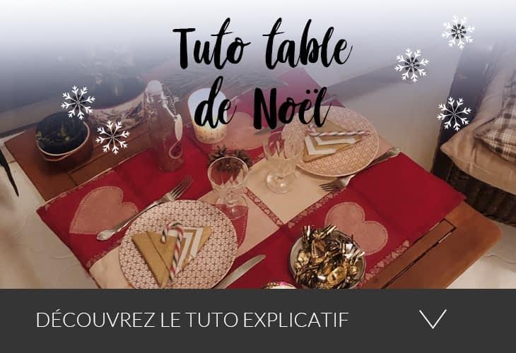 Tuto table de Noël