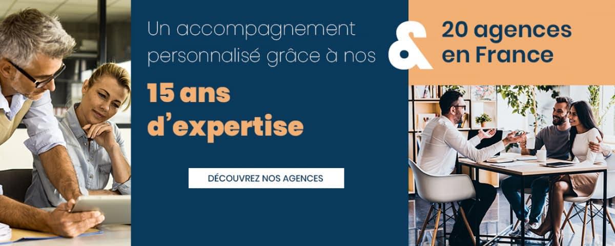 Plus de 150 collaborateurs disponibles dans 20 agences en France se tiennent à votre disposition.