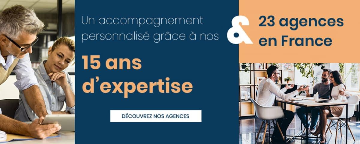 Plus de 160 collaborateurs disponibles dans 23 agences en France se tiennent à votre disposition.