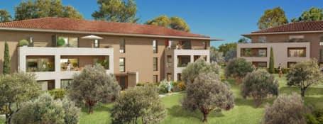 Aix-en-Provence au sein d'un environnement résidentiel et verdoyant