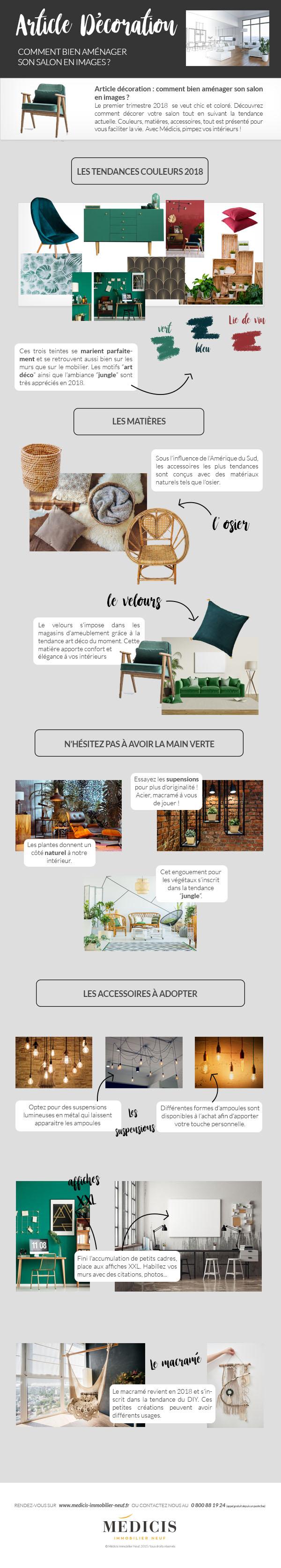 article décoration, comment bien aménager son salon | médicis